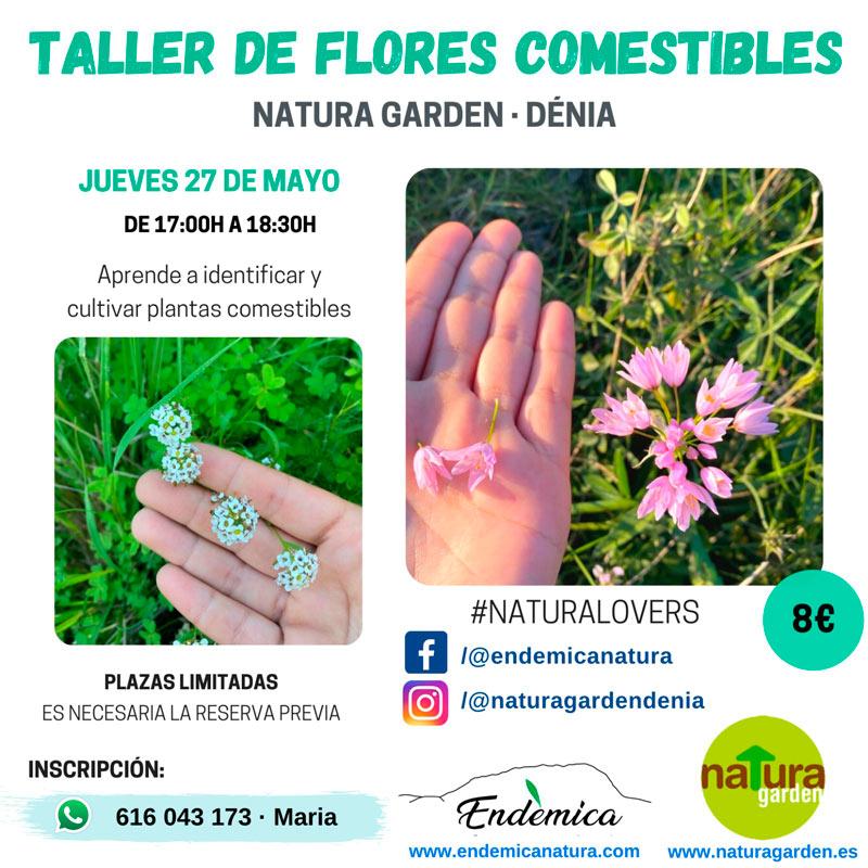 Taller de flores comestibles
